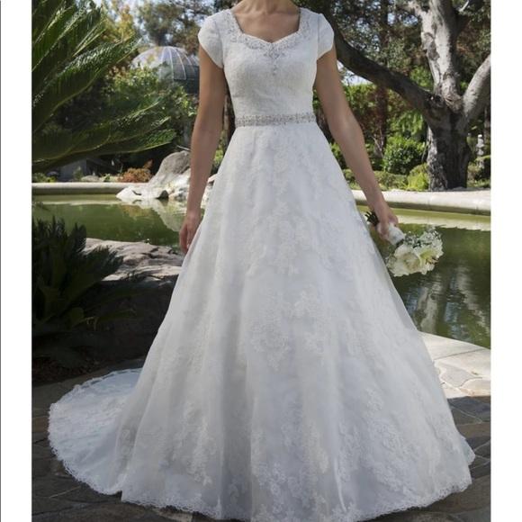 Wedding Dresses Elegant Custom Made Modest Dress Sleeves Poshmark